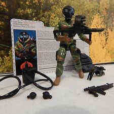 GI JOE ~ 2006 COBRA FRAG VIPER  ~100% & card ~ JUNGLE THEATRE OFFICER MOTH 1986