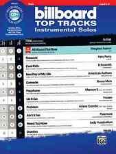 "BILLBOARD TOP TRACKS INSTRUMENTAL SOLOS ""FLUTE"" MUSIC BOOK/CD BRAND NEW ON SALE!"