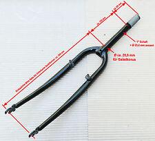 "26"" MTB Gabel 1"" Gewindeschaft 190mm/65 mm Hi-Ten stahl schwarz"