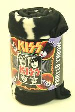 "KISS Polyester Fleece Throw 2009  Kiss Night 50"" x 60"" Kiss Faces"