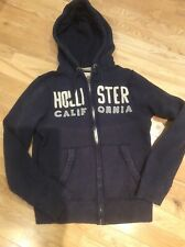 Hollister Mens Hoodie Navy Size Small