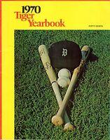 1970 Detroit Tigers Yearbook, Baseball, Al Kaline, Norm Cash, Denny McLain GOOD