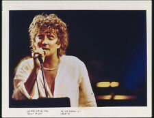 Rod Stewart Iconic Concert Image Vintage Photo Agency Duplicate 5x4 Transparency