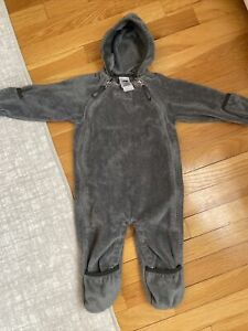 The North Face Gray Oso Hooded Fleece Bunting Warm Infant 6-12 Months