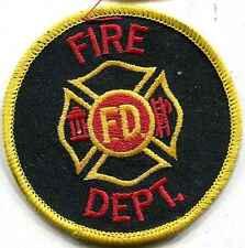 Vigili del fuoco USA: armabzeichen: Fire Dept... 75 mm, rotonda. 4 pezzi
