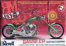 PLASTIC KIT:  REVELL 85-7318:  GAMBLER CUSTOM CHOPPER...1/12th SCALE