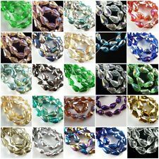 Mixed 20pcs Teardrop Glass Crystal Faceted Beads Spacer Finding 10x15mm Charms