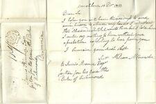 * 1842  WILLIAM McCONNACHIE LETTER TO SKINNER AT DRUMMIN MORTLACH UNIQUE MILEAGE