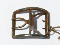 Antique Single Georgian Polished Steel Openwork Shoe Buckle  #B7