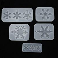 Crystal Epoxy Resin Mold Snowflake Pendant Silicone Mould Tool DIY Craft P7G4