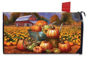 Pumpkin Farm Fall Magnetic Mailbox Cover Cart Autumn Standard Briarwood Lane