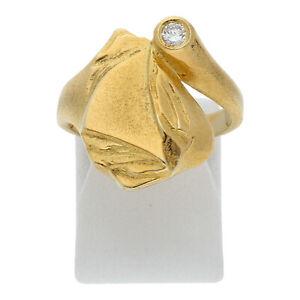 Diamant Brillant Ring 0,10 ct 585 Gold Größe 54 14 Karat Damen Schmuck R02.6068