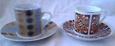 Two China Demitasse Cups & Saucers Made in China