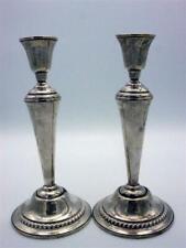 großes Paar international Sterling Silber Kerzenhalter Kerzenleuchter [schw