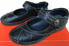 Propet Blythe W6048 Black Leather Hook Comfort Loafers Flats Shoes Women's 7.5 W