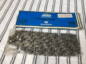 """NOS Shimano 600 Uniglide Bicycle Chain 1/2"""" X 3/32""""  NEW"""