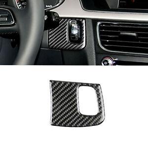 For Audi A4 B8 A5 8T S5 2008-2015 Carbon Fiber Engine Start Key Frame Cover Trim