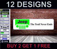 Con Logo Jeep Garage Officina PVC Stemma Banner Camera Ufficio Concessionario