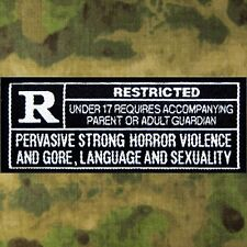 ZHT GEAR: ZOMBIE HUNTER RATED R RESTRICTED PATCH! UNDER 17 REQUIRES ACCOMPANYING
