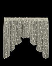 "Heritage Lace CAFE BRISTOL GARDEN Window Swag Pair 72""W x 36""L - Birds, Vines"