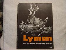 Lyman Reloading Ammunition no. 44 catalog sights chokes