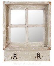 Clayre & EEF estilo Rústico Shabby ventana espejo emplazamiento colgante 45cm X