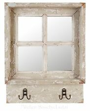 Clayre & eef Country Cottage Shabby Window Mirror Storage Hanger 45cm x 57cm New