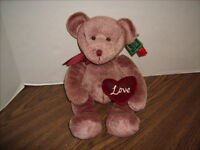 """14"""" LOVE BEAR Chantelle New with Tags RUSS BERRIE Plush Valentines Day"""