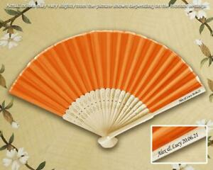 35+ Pcs Imprinted Personalized Silk Fans with Side Print