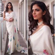 Saree Bridal Bollywood Georgette Print Ethnic Wedding Indian Designer Sari JC