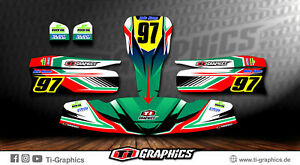 Dekor Design Tony Kart Exprit FA Alonso OTK M6 - Grün