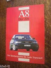ABT Audi a8 prospetto/brochure/DEPLIANT, D