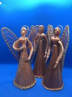Christmas Angels  Three Straw Angels for your Tree or Tabletop
