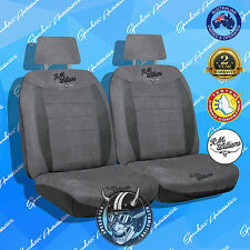 (RMW) RM WILLIAMS FRONT CAR SEAT COVER, HIGH QUALITY SUEDE VELOUR CHARCOAL, 30
