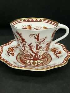 Vintage Coalport Cabinet Cup & Saucer. Indian Tree Coral Pattern
