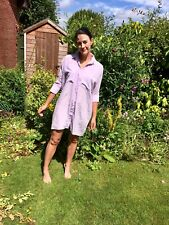 Topshop Boutique oversized lilac pastel purple silk shirt dress UK 8 US 4