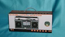 "QFX J-114U AM/FM/SW world receiver USB/SD/TF Slot ""Factory New"" GREAT WOW! SALE!"