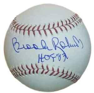 Brooks Robinson Autographed Baltimore Orioles OML Baseball HOF JSA 12927