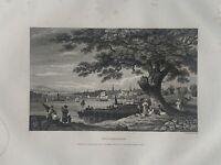 1853 View of Philadelphia United States Engraving Original Antique Print
