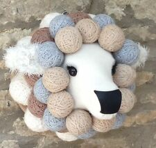 Handmade faux taxidermy pretty sheep lamb ewe wall mounted animal head trophy