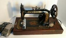 Vintage New Home Antique Sewing Machine Home Office Cabin Western Decor with Top