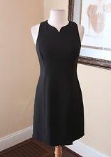 Vtg Nanette Lepore Black Sleeveless Cocktail Dress Size 2 Mini LBD Sheath