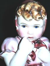 ANTIQUE AUSTRIA WIEN GOLDSCHEIDER ART DECO LITTLE GIRL DOLL PORCELAIN FIGURINE