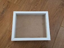 Shadow Box, Wooden Picture / Photo Frame - NEW 10x8 inch - WHITE