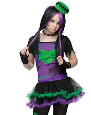 Funkie Frankie Gothic Punky Teen Girls Fancy Dress Halloween Costume Junior 0-9