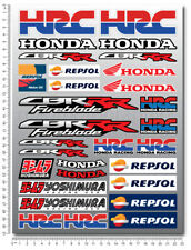 CBR motorbike racing decal set sheet 30 sticker cbr600rr cbr1000rr Repsol HRC
