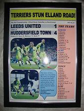 Leeds United 1 Huddersfield Town 4 - 2016 - framed print