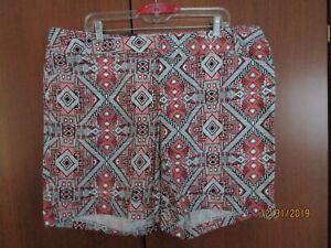 NEW INC International Concepts Shorts Sz 18 W Cotton Spandex Waist 41 Inseam 8