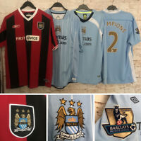 Manchester City Football Shirt, Long/Short Sleeves, 2003/04/08/09/11/12, Great