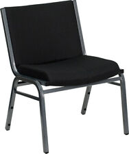 Hercules 1000 Lb. Capacity Big & Tall Extra Wide Black Fabric Stack Chair
